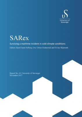 Cover for SARex: Surviving a maritime incident in cold climate conditions