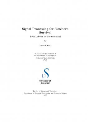 Cover for Signal Processing for Newborn Survival  from labour to resuscitation